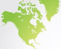 Mappa dell'America settentrionale Fotografia Stock Libera da Diritti
