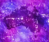 Programma dell'Australia di alta tecnologia illustrazione vettoriale