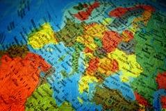 Programma dell'Europa con i nomi Fotografia Stock