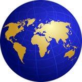 Programma dell'illustrazione del mondo sulla griglia del globo Fotografia Stock Libera da Diritti