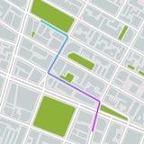 Programma della città Illustrazione di vettore illustrazione vettoriale