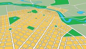 Programma della città urbana generica nell'angolo di prospettiva Fotografie Stock Libere da Diritti
