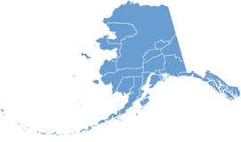 Programma della condizione dell'Alaska dalle contee Immagine Stock Libera da Diritti