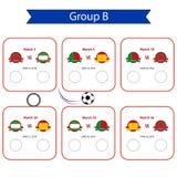 Programma della coppa del Mondo 2018 di calcio Championsh internazionale del mondo Immagine Stock