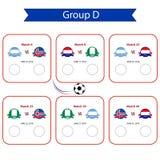 Programma della coppa del Mondo 2018 di calcio Championsh internazionale del mondo Immagini Stock Libere da Diritti