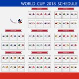 Programma della coppa del Mondo 2018 di calcio Championsh internazionale del mondo Fotografia Stock Libera da Diritti