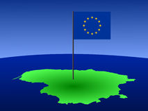 Programma della Lituania con la bandierina illustrazione di stock