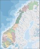 Programma della Norvegia Fotografia Stock