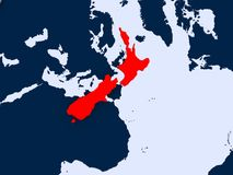 Programma della Nuova Zelanda Fotografia Stock