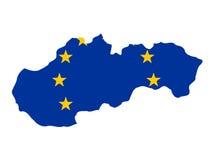 Bandiera della slovacchia sulla mappa fotografia stock for Programma della mappa della casa