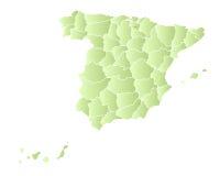 Programma della Spagna con le province   illustrazione di stock