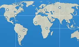 Programma della terra con i punti Illustrazione di Stock
