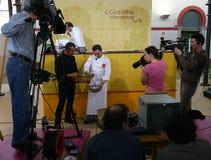Programma della TV Fotografie Stock