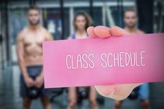 Programma di classe contro il fondo della gente Fotografia Stock Libera da Diritti