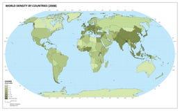 Programma di densità demografica del mondo Immagine Stock Libera da Diritti