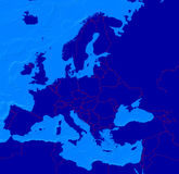 Programma di Europa con i limiti Immagini Stock