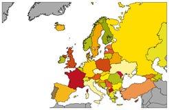 Programma di Europa - dettagliata - illustrazione Fotografia Stock Libera da Diritti