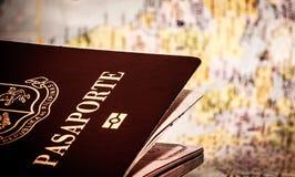 Programma di mondo & del passaporto Fotografia Stock Libera da Diritti