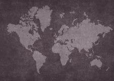 Programma di mondo arrugginito Immagine Stock