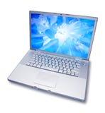 Programma di mondo del computer portatile Fotografia Stock