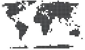 Programma di mondo del mosaico Immagine Stock Libera da Diritti
