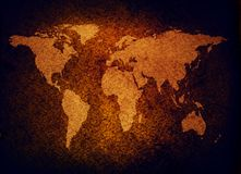 Programma di mondo di Grunge Fotografia Stock