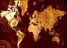 Programma di mondo di Grunge royalty illustrazione gratis