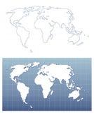 Programma di mondo di Pixelated nel formato di vettore Fotografia Stock Libera da Diritti