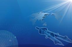 Programma di mondo e strumento di misurazione Immagine Stock Libera da Diritti