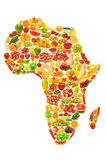 Programma di mondo fatto delle frutta e delle verdure Fotografia Stock