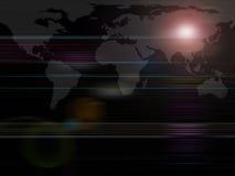 Programma di mondo globale di serie della priorità bassa Fotografia Stock Libera da Diritti