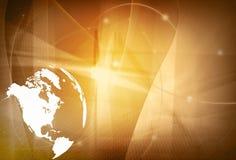 Programma di mondo - programma dell'America Immagine Stock Libera da Diritti