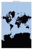 Programma di mondo (proiezione di Mercator) immagini stock