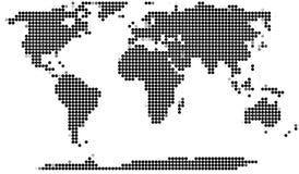 Programma di mondo punteggiato Immagine Stock
