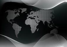 Mappa di mondo punteggiata Fotografia Stock Libera da Diritti