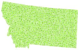 Programma di mosaico del Montana Immagine Stock