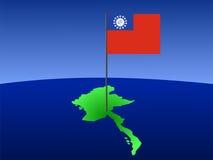 Programma di Myanmar con la bandierina Immagini Stock Libere da Diritti