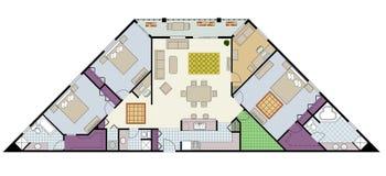 Programma di pavimento illustrazione vettoriale