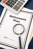 Programma di pensione Fotografia Stock