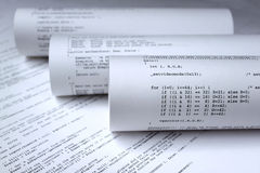 Programma di software del calcolatore Immagini Stock