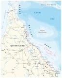 Programma di strada della penisola di York del cappuccio con la Grande barriera corallina, Queensland, Australia Fotografia Stock
