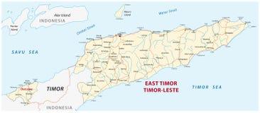 Programma di strada della Repubblica Democratica di Timor-Est Fotografie Stock