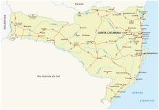 Programma di strada dello stato brasiliano Santa Catarina Fotografie Stock Libere da Diritti