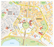 Programma di strada di vettore di Canberra centrale, Australia illustrazione vettoriale