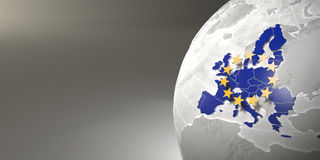 Programma di Unione Europea su terra Immagini Stock