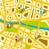 Programma di via di GPS Immagini Stock