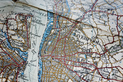 Programma di zona di Liverpool vecchio Immagine Stock