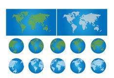 Programma e globo di mondo Fotografie Stock Libere da Diritti