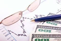 Programma e soldi di finanze Fotografie Stock Libere da Diritti