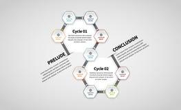 Programma gemellato Infographic di esagono Fotografia Stock Libera da Diritti